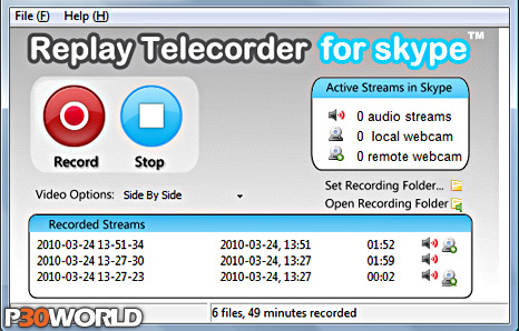 Replay Telecorder for Skype