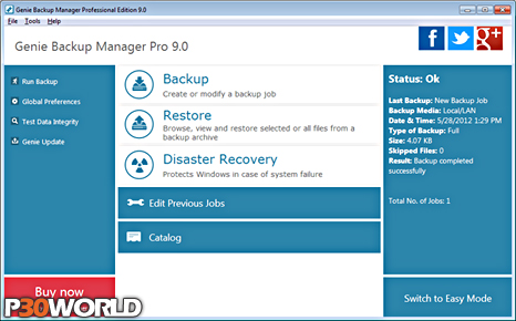Genie Backup Manager Pro