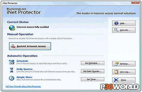 دانلود Blumentals iNet Protector v4.3   نرم افزار محدود کردن دسترسی اینترنت