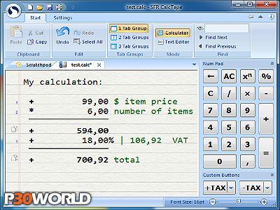 دانلود SFR CalcTape Pro v5.1.5 Bilanguage – نرم افزار ماشین حساب حرفه ای