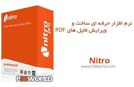 نرم افزار ساخت PDF فارسی Nitro