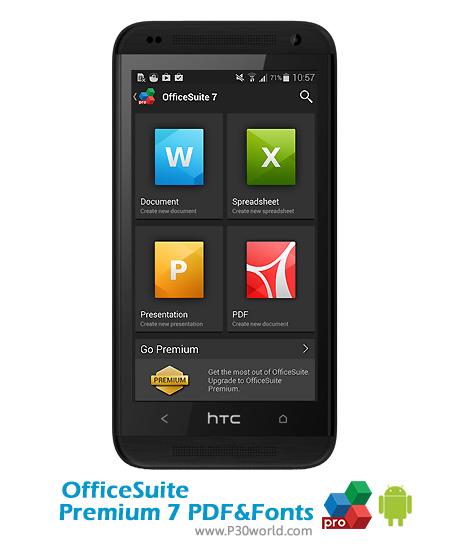 آفیس اندروید OfficeSuite-Premium-7-PDF-Fonts