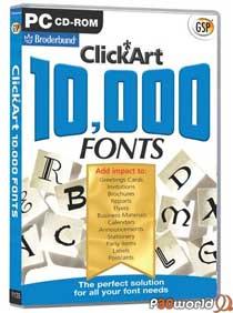 10.000 Font Collection v2009 مجموعه ای با 10000 فونت زیبا و مختلف