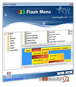 Dreamingsoft 123 Flash Menu v4.2.0.1615 – طراحی منوهای زیبای فلش برای وب سایت ها