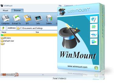 نرم افزار کاربردی WinMount v3.5.0331 جهت مدیریت بروی انواع فایل فشرده شده