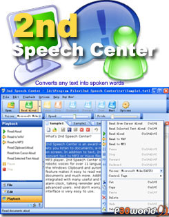 2nd Speech Center v4.00.10.822 ابزاری برای تبدیل متن به گفتار