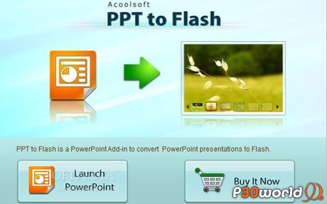 دانلود Acoolsoft PPT to Flash – نرم افزار تبدیل فایل های پاورپوینت به فلش