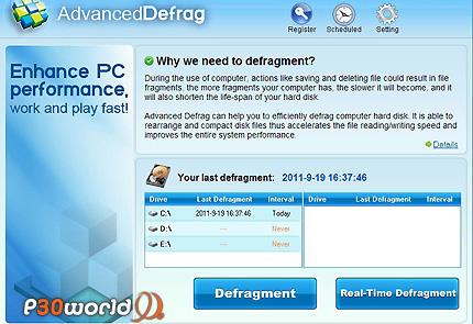 دانلود Advanced Defrag 6.3.0.1 – نرم افزار یکپارچه سازی هارد دیسک