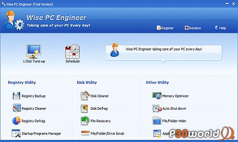 دانلود Wise PC Engineer 6.39 Build 215 – پاکسازی رجیستری و بهینه سازی کامپیوتر