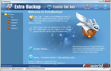 دانلود ExtraBackup v1.7 build 929 – نرم افزار تهیه نسخه پشتیبان بصورت خودکار