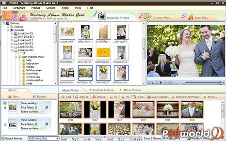 دانلود Wedding Album Maker Gold 3.35 – نرم افزار ساخت دی وی دی از عکسهای عروسی