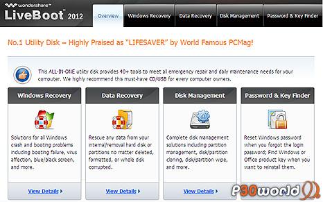 دانلود Wondershare LiveBoot 2012 7.0.1.0 – دیسک بوت راه اندازی و رفع ایرادات کامپیوتر