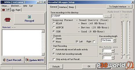 دانلود SB Win Logger 2.0.3.0238 – نرم افزار ضبط تماس ها و مکالمات تلفنی