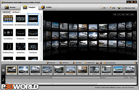 دانلود Wondershare Flash Gallery Factory Deluxe 5.2.1.15 – نرم افزار ساخت اسلایدشو و گالری عکس فلش