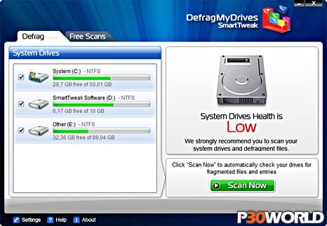 دانلود SmartTweak DefragMyDrives 7.0.22 – نرم افزار دیفرگ و یکپارچه سازی هارد