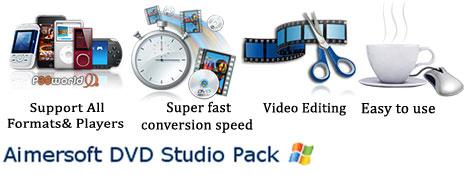 کلکسیونی از بهترین ابزارهای تبدیل فرمت، کپی، ساخت و .. DVD همگی در یک پکیج با نام Aimersoft DVD Studio Pack v2.2