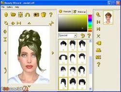 Beauty Wizard 3.3 نرم افزاری حرفه ای برای تست مدل های مختلف مو