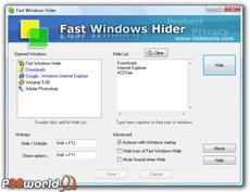 مخفی سازی پنجره ها و نرم افزارها توسط HideTools Fast Windows Hider v3.7