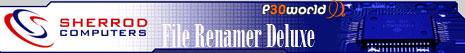تغییر نام فایل ها به صورت همزمان و منظم شده توسط Sherrod Computers File Renamer Deluxe v5.7.0