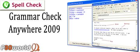 کنترل و یافتن عیب های گرامری در متون توسط Grammar Check Anywhere 2009