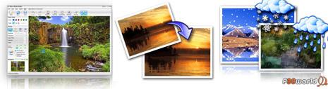 ایجاد افکت های طبیعت بر روی عکس ها توسط Nufsoft Nature Illusion Studio Pro v3.5