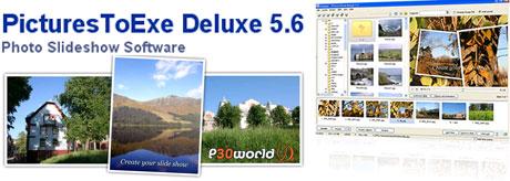 تبدیل تصاویر JPG به فایلهای اجرایی EXE و اجرای ساخت اسلاید های اجرایی توسط Pictures to EXE v5.6