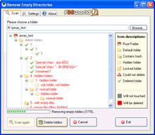 پاکسازی پوشه های خالی موجود بر روی هارد توسط Remove Empty Directories v2.1