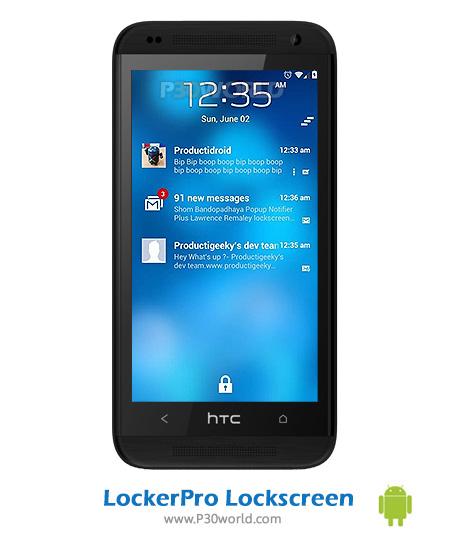 دانلود LockerPro Lockscreen v5.4 - نرم افزار قفل صفحه نمایش اندروید