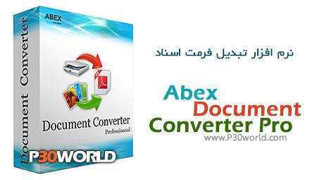 دانلود Abex Document Converter Pro 3.5 - نرم افزار تبدیل فرمت اسناد به یکدیگر