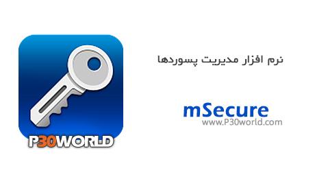 دانلود mSecure 3.5 – نرم افزار مدیریت پسورد
