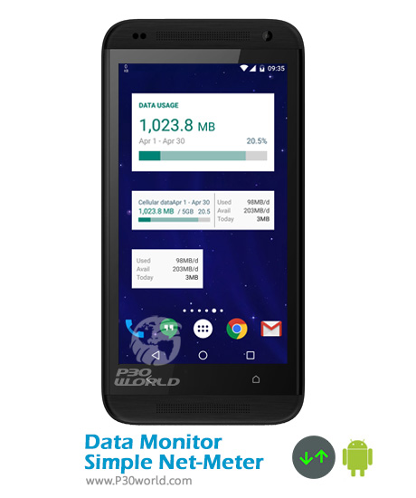 دانلود Data Monitor: Simple Net-Meter