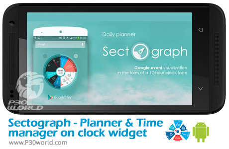 دانلود Sectograph. Planner & Time manager on clock widget